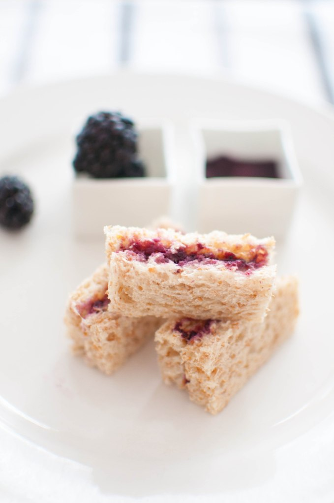 Almond Butter and Blackberry Jam Sandwich